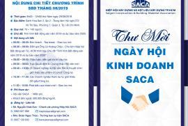 THƯ MỜI THAM GIA NGÀY HỘI KINH DOANH SACA – SBD 29/08/2019